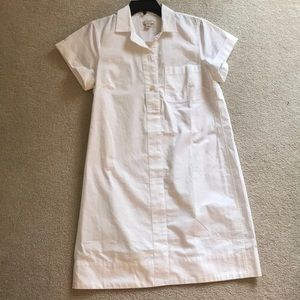 {J. Crew} White Shirt Dress